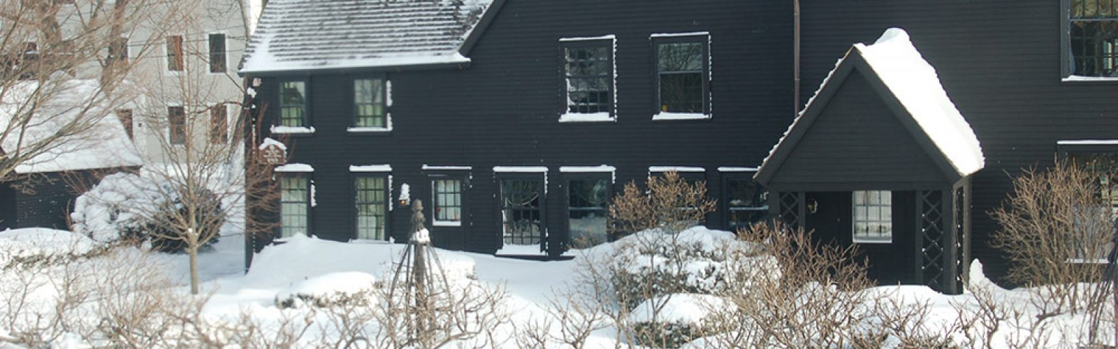 Snow covering the House of the Seven Gables in the winter of 2015.