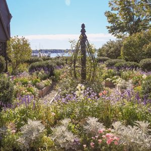 Flower garden located on the side of the House of the Seven Gables.
