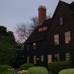 The House of Seven Gables at dusk.