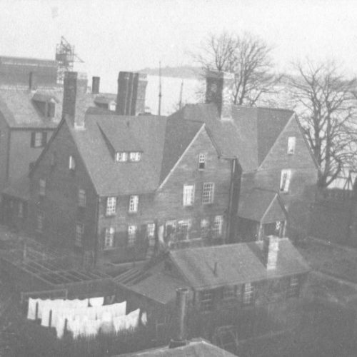 Old Photo of aerial view of the House of Seven Gables