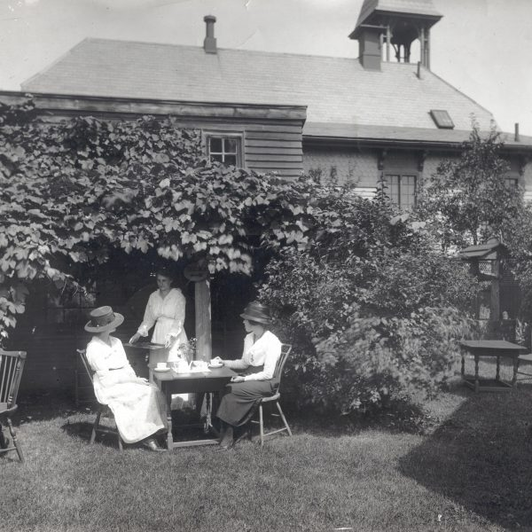 Old Picture of Women Having Tea in Garden | Historic Preservation | House of Seven Gables Mission