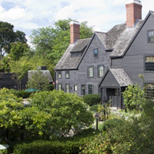 View of the House of Seven Gables from the Garden