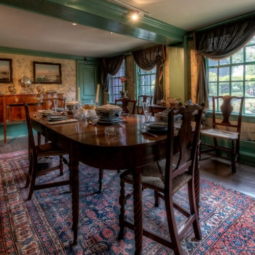 Interior picture of the The House of the Seven Gables featuring the dining room