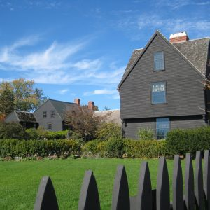 Panoramic view of the museum campus at The House of the Seven Gables