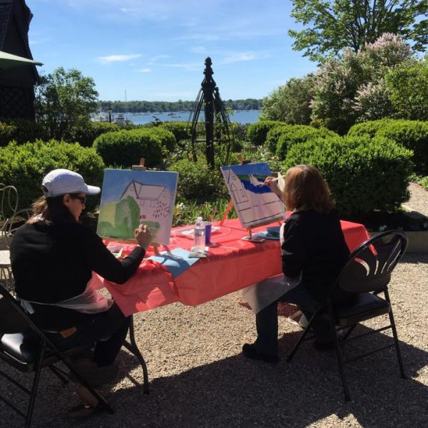 paint and sip at the gables