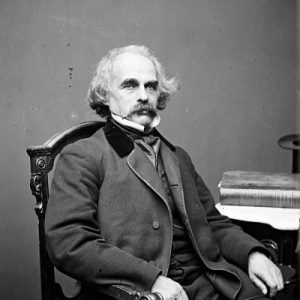 Historic photograph of the author Nathaniel Hawthorne