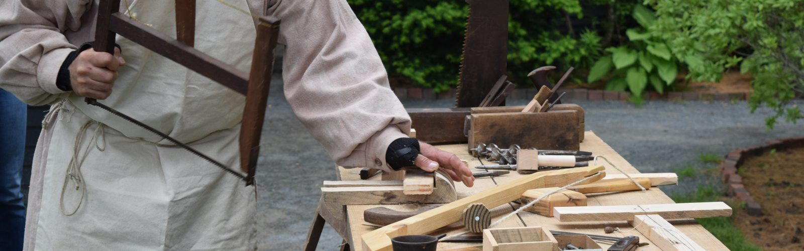 18th century carpentry demonstration