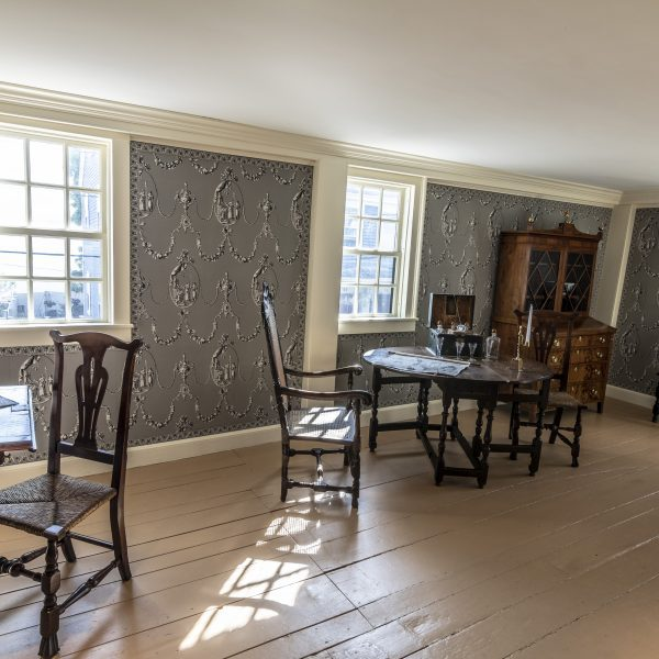Interior photograph of the Accounting Room at The House of the Seven Gables