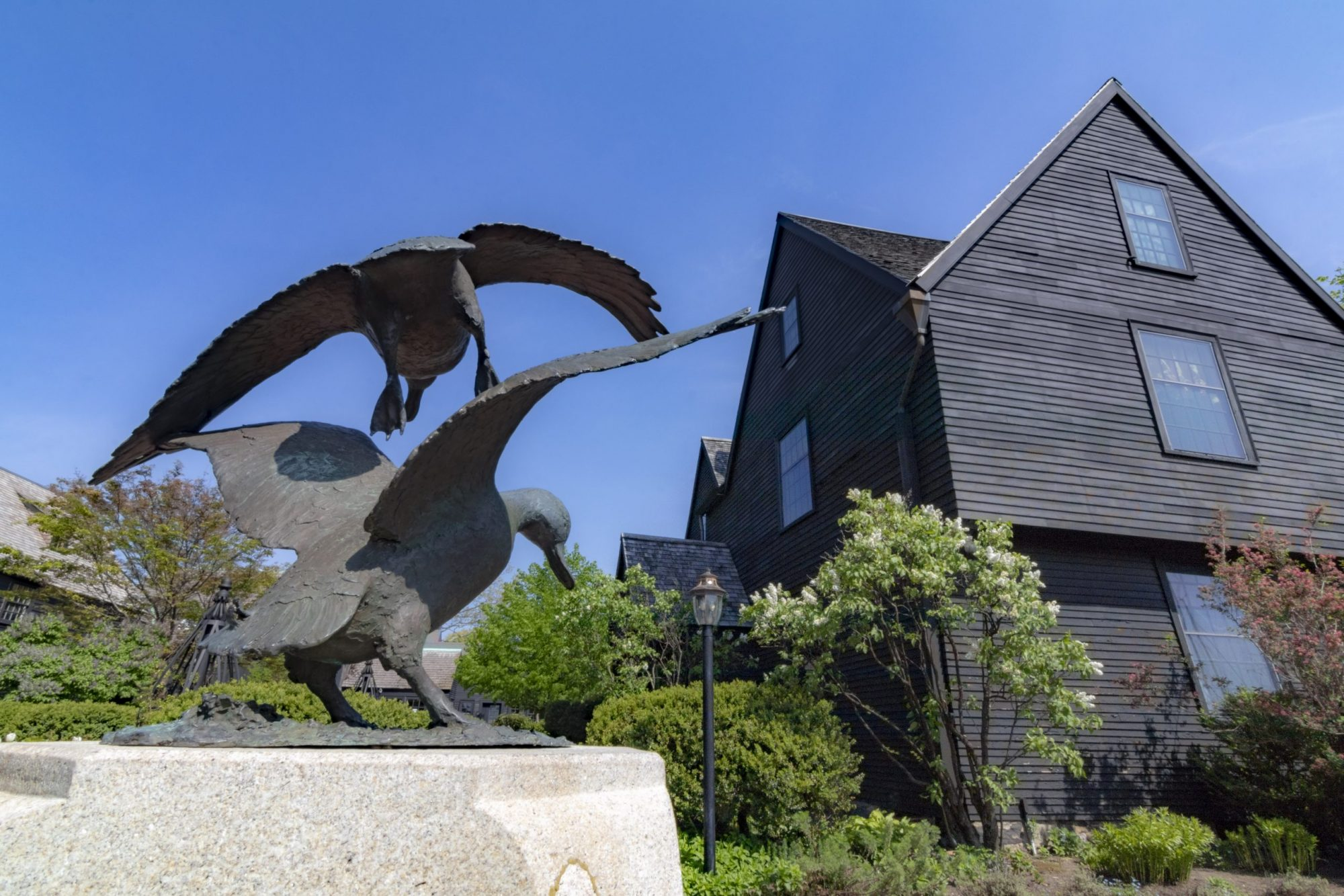 The gardens and grounds at The House of the Seven Gables Museum Campus