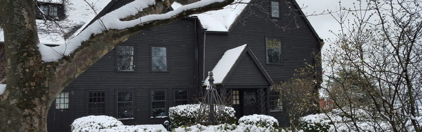 The House of the Seven Gables after a snowstorm - exterior image
