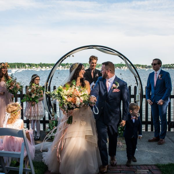 A harborside wedding at The House of the Seven Gables