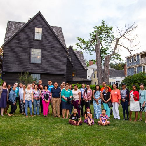 ESL and Citizenship students enjoy an outing at The House of the Seven Gables