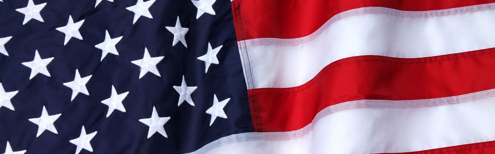 American flag rippling