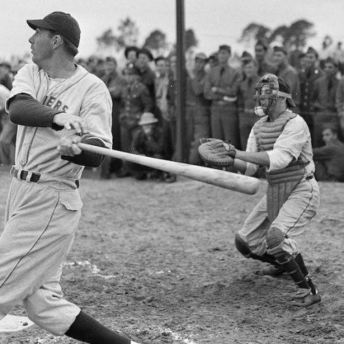 Vintage baseball player