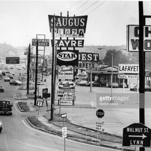Getty Images Boston Globe image of Route 1 south in Saugus/Boston