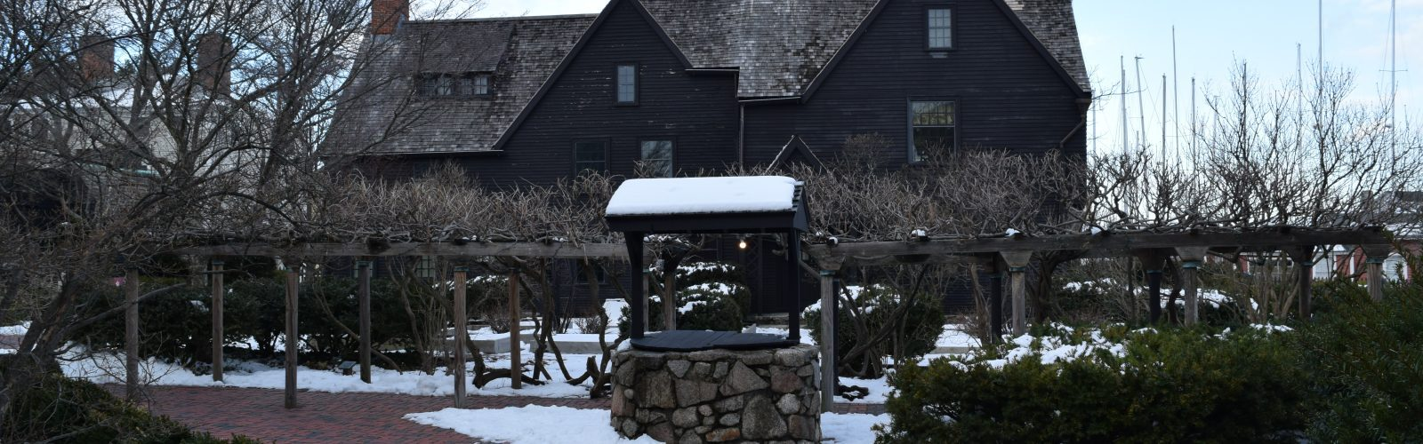 The House of the Seven Gables with snow