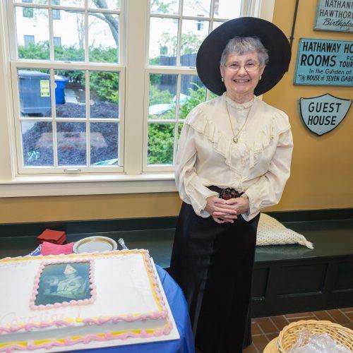 Irene Axelrod, a board member of The Gables, portrays founder Caroline Emmerton