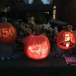 Carved pumpkins in Salem