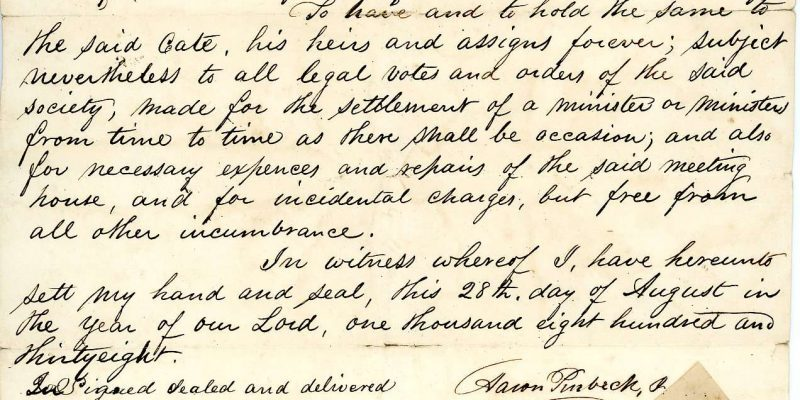 A handwritten document on paper in ink.