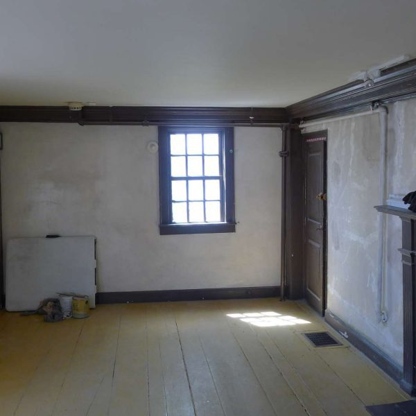 Photo of the accounting room at The House of the Seven Gables after restoration during the Dining Room Chamber project.