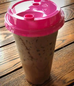 A photo of an iced coffee from Jaho Coffee and Wine Bar in Salem Massachusetts