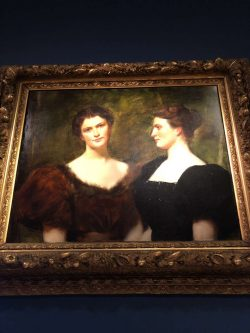 Portrait of the Emmerton sisters on display at the Peabody Essex Museum.