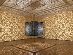 Photo of Anila Quayyum Agha's All The Flowers Are For Me at the Peabody Essex Museum.