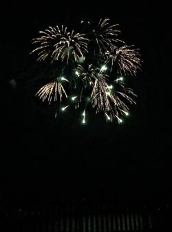 Photo of fireworks over Salem Harbor for Salem Heritage Days in August 2021