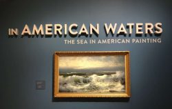 In American Waters exhibit entrance at the Peabody Essex Museum.