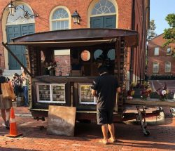 Photo of the Maitland Mountian Farm stall at the Salem Farmers' Market August 2021